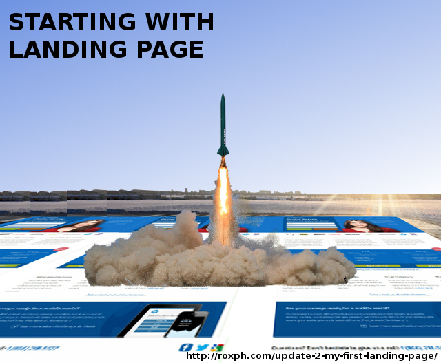 StartingFromLandingPage Update 2: My First Landing Page